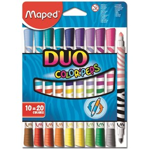 Maped Duo Color Peps Washable Felt Tip Marker Set