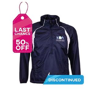 Kensington Aldridge p.e rain jacket with logo front