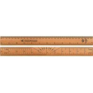 30cm Wooden Ruler - Vintage Oxford