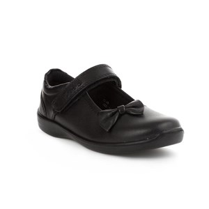 Girls Buckle My Shoe Simple Bow Trim Bar Shoe