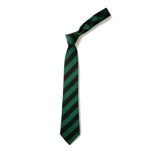 Broad Stripe Tie - Black & Emerald