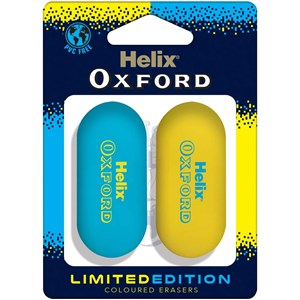 Helix Oxford Clash Limited Edition Coloured Erasers