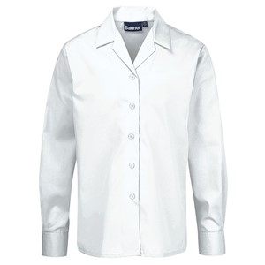Blouses - Non Iron - Long Sleeve Revere Collar - Twin Pack
