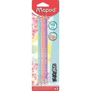 Maped Pastel HB Pencils - 3 Pack