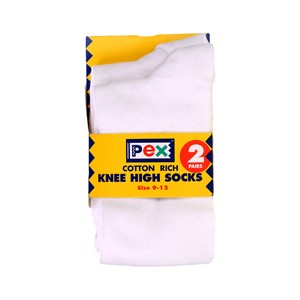Socks - Cotton Rich Knee High - 2 Pair Pack