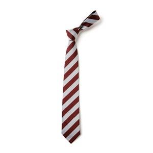 Broad Stripe Tie - Maroon & White