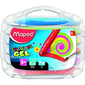 Maped Gel Color'Peps Smoothy Crayons (6 pack)