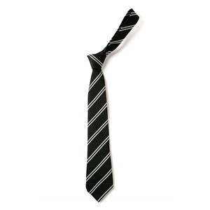 ouble Stripe Tie - Black & White