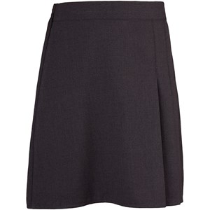 3 Side Pleat Elastic Skirt - Front
