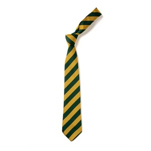 Broad Stripe Tie - Green & Gold