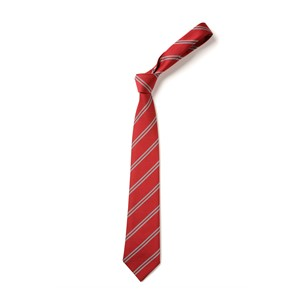 Double Stripe Tie - Red & Grey
