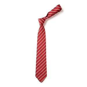 Thin Stripe Tie - Red & White