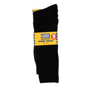 Socks - Cotton Rich - Ankle 5 Pair Pack
