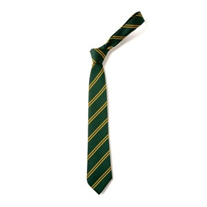 Double Stripe Tie - Green & Gold