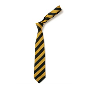 Broad Stripe Tie - Black & Gold